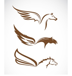 Image of an pegasus winged horses vector