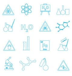Chemistry simple outline icons set eps10 vector