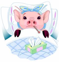 Pig flu vector