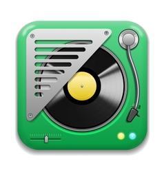 Music app icon vector