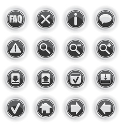 Web symbol icons vector