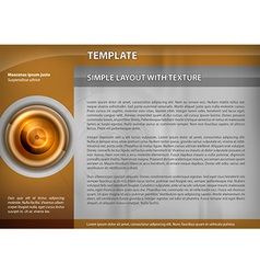 Template gold target vector