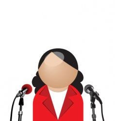 Woman interview vector