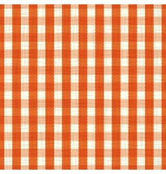 Seamless pattern orange and white tablecloth vector