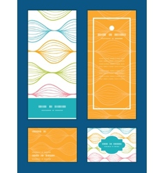 Colorful horizontal ogee vertical frame vector