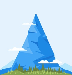 High mountain flat vector