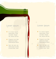 Background with red wine vector