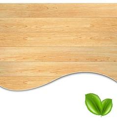 Wooden poster vector