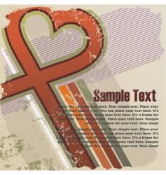 Valentines grunge background vector