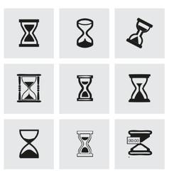 Hourglass icons set vector