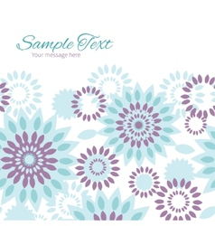 Purple and blue floral abstract horizontal vector