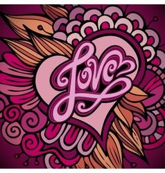 Love hand lettering - handmade calligraphy vector