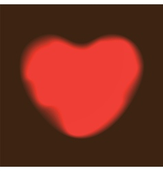 Heart red shape on dark background vector