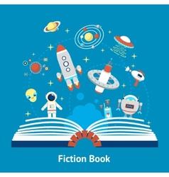 Fiction book vector