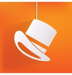 Cylinder hat icon vector