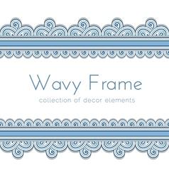 Wave border frame vector