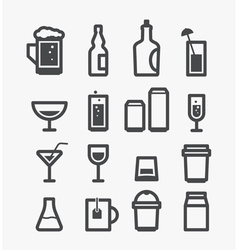 Drinks vector