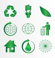 Eco icons pack vector