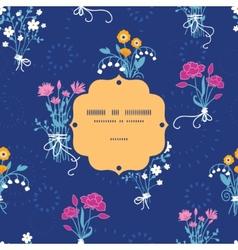 Fresh flower bouquets frame seamless pattern vector