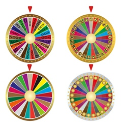 Wheel of fortune set vector