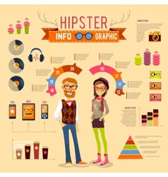 Hipster infographic set vector