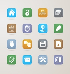 Computer and business icons set vector