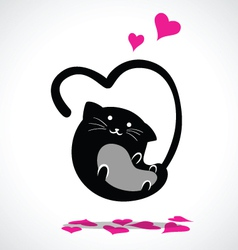 Valentine cat vector
