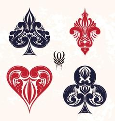 Ornamental playing card vector