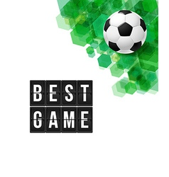 Abstract football soccer poster vector
