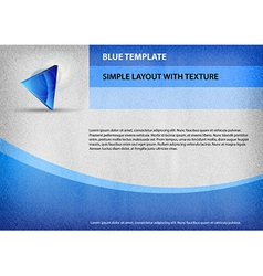 Template blue curve vector