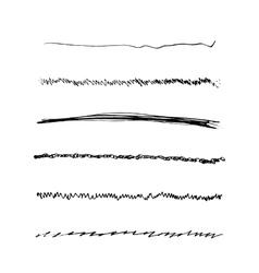 Handdrawn brushes set vector