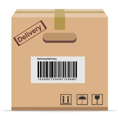 Cardboard box for delivery vector