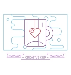 Red cup icon tea drink dinner and food vector