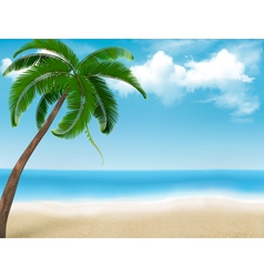 Palm tree holiday background vector