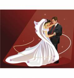 Wedding dance vector