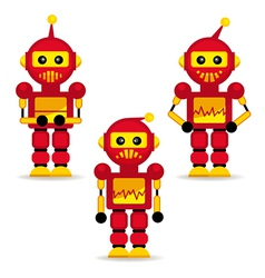 Collection robots in action vector