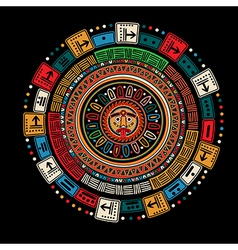 Maya calendar vector