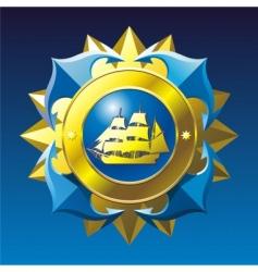 Nautical emblem vector