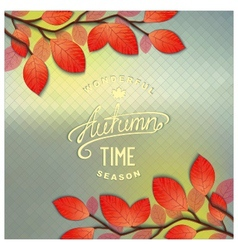 Autumn window background vector