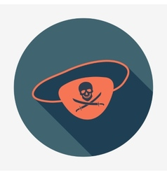 Pirate icon eye-patch with jolly roger icon with vector