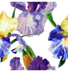 Seamless pattern with color irises1-05 vector