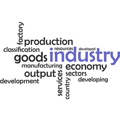 Word cloud industry vector
