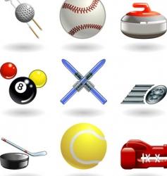 Shiny sports icon set series vector