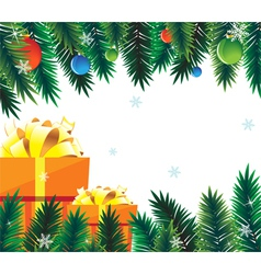 Spruce branches and decorations vector