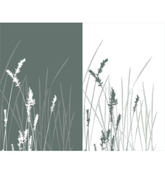 Real grass silhouette 2 colors vector
