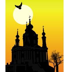 St andrews church in kiev vector