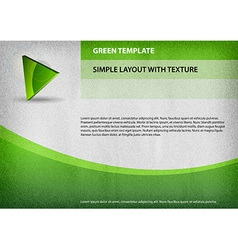 Template green curve vector