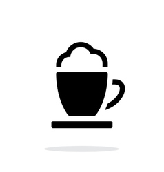 Espresso cup simple icon on white background vector