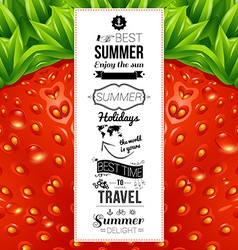Summer poster optical strawberry background vector
