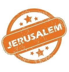 Jerusalem round stamp vector